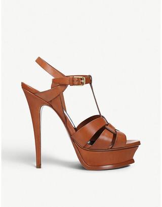 Saint Laurent Tribute 105 leather platform sandals