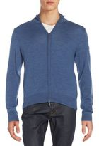 Saks Fifth Avenue Merino Wool Zip-Front Cardigan