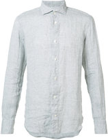 Eleventy spread collar shirt - men - Linen/Flax - M