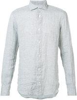 Eleventy spread collar shirt