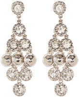 Natasha Accessories Round Crystal Chandelier Earrings