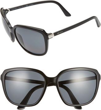 Prada 58mm Polarized Sunglasses