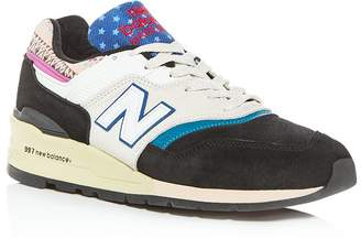 New Balance Men's Made in the USA 997 Mixed Media Low-Top Sneakers