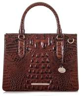 Brahmin Small Camille Embossed Leather Satchel