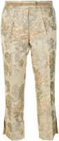 Christian Pellizzari floral jacquard tailored trousers