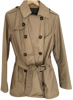 Patrizia Pepe Ecru Cotton Trench Coat for Women