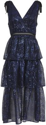 Self-Portrait Self Portrait Blue Long Dress With Sequins