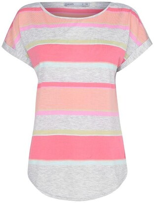 Oasis Rainbow Stripe T-Shirt