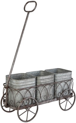 Willow Row Grey Metal Planter