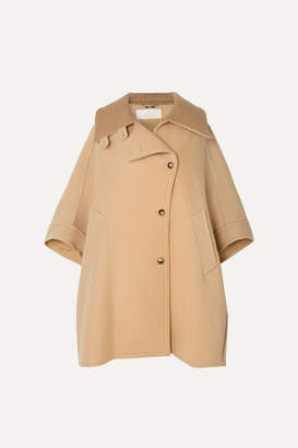 Chloé Oversized Wool And Cashmere-blend Cape - Beige