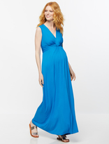 A Pea in the Pod Seraphine Knot Front Maternity Maxi Dress