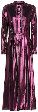 Burberry Metallic silk-blend maxi dress