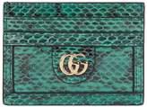 Gucci Snakeskin Ophidia Card Holder