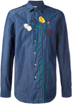 Paul Smith flower stem embroidered shirt