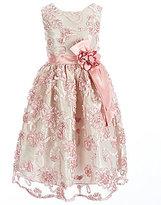Jayne Copeland Big Girls 7-12 Soutache Sash-Flower Dress