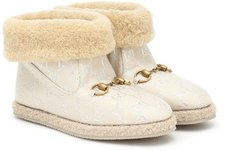 Gucci GG lame ankle boots