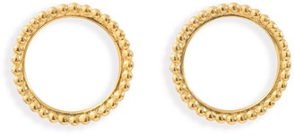 Agnes de Verneuil Circle Pearled Earrings - Gold