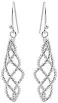 Sterling Silver Weaved Rope Drop Earrings