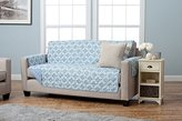 Adalyn Collection Deluxe Reversible Quilted Furniture Protector. Beautiful Print on One Side / Solid Color on the Other for Two Fresh Looks. By Home Fashion Designs. (Sofa, Marine Blue)