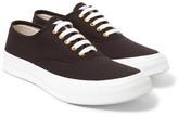 Maison Kitsuné Canvas Sneakers - Brown