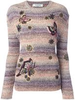 Valentino butterfly embroidery jumper - women - Cotton/Polyester - S