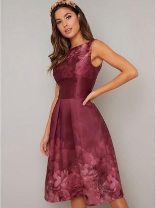 Chi Chi London Sady Dress - Burgundy