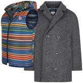 Paul Smith JuniorBoys Grey Wool 2 In 1 Pierrrot Coat