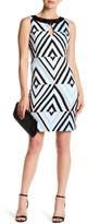 Taylor Embellished Crew Neck Print Dress