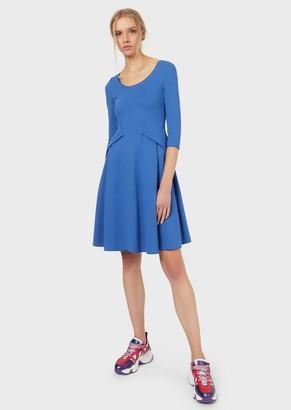 Emporio Armani Milano-Stitch Dress With Waist Detail