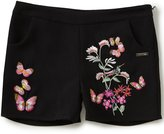 Marciano Big Girls 7-16 Floral/Butterfly-Embroidered Crepe Shorts