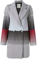 Marco De Vincenzo striped embroidered coat - women - Polyamide/Viscose/Wool - 42