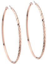 GUESS Diamond Cut Hoop Earring