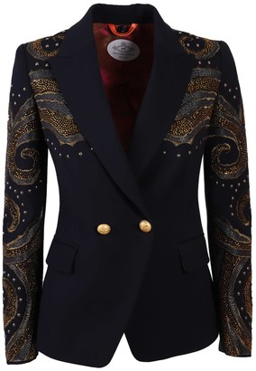 The Extreme Collection Navy Blue Crossover Blazer Naomi