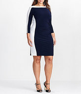 Lauren Ralph Lauren Plus Colorblock Jersey Dress