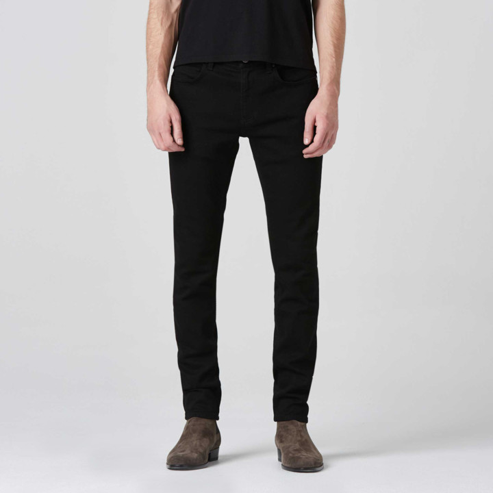 DSTLD Mens Skinny Jeans in Jet Black