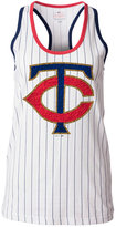 5th & Ocean Women's Minnesota Twins Pinstripe Glitter Tank Top
