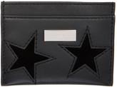 Stella McCartney Black Stars Card Holder