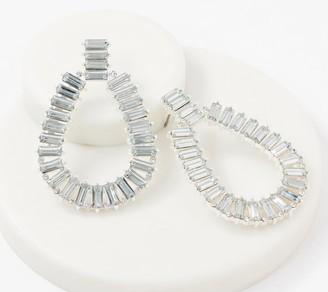 G.I.L.I. Got It Love It G.I.L.I. Marquise Simulated Diamond Hoop Earrings