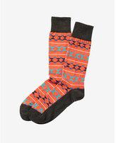 Express bright geometric print dress socks