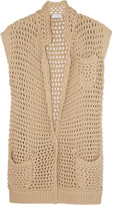 Brunello Cucinelli Open-knit cotton-blend cardigan