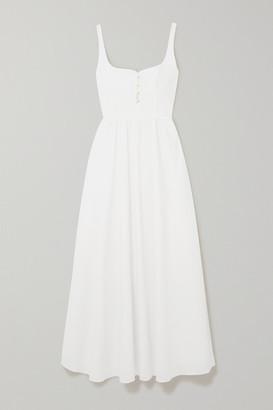 Esteban Cortazar Cotton-voile Maxi Dress - White