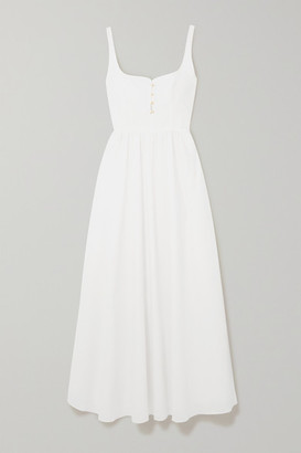 Esteban Cortazar Cotton-voile Maxi Dress - White