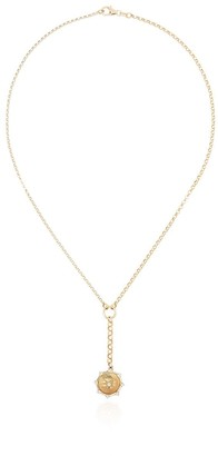 Foundrae 18-karat gold Spark and Crossed Arrows diamond necklace