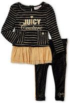 Juicy Couture Infant Girls) Two-Piece Metallic Stripe Tunic & Leggings Set