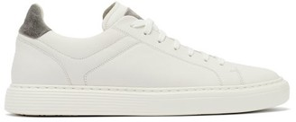 Brunello Cucinelli Leather And Suede Trainers - White