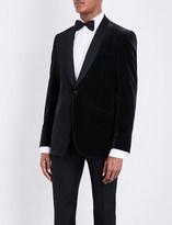 Richard James Regular-fit shawl-lapel velvet jacket