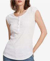 Calvin Klein Jeans Cap-Sleeve Henley T-Shirt