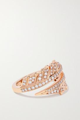 Stephen Webster + Net Sustain Magnipheasant 18-karat Recycled Rose Gold Diamond Ring - 7