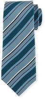 Davidoff Regimental Silk Tie, Gray