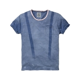 Scotch & Soda Men's Indigo Faded Suspender Tee
